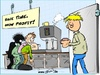 Cartoon: Grow profit (small) by Trumix tagged kaffee,küche,tränke,timemanagement,time,is,money,zeitsparen