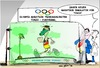Cartoon: Marathon  Trainingslager (small) by Trumix tagged olympia,trainingslager,tokio,fukushima,ioc,strahlung,abfall,radioaktivität