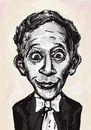 Cartoon: Arthur Rubenstein (small) by gartoon tagged music famous people pianist