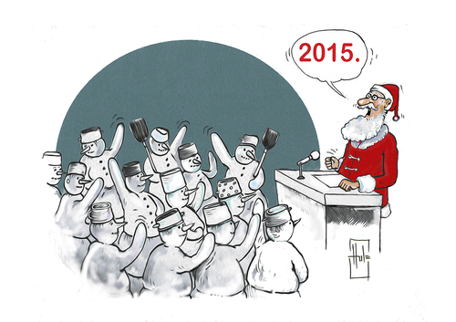 Cartoon: New Year... (medium) by Hule tagged holidays
