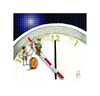 Cartoon: End of the world (small) by Hule tagged hapyy,new,year