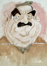Cartoon: saddam (small) by darkoarts tagged saddam,hussein,diktator,irak,kurdistan,war,karikatur