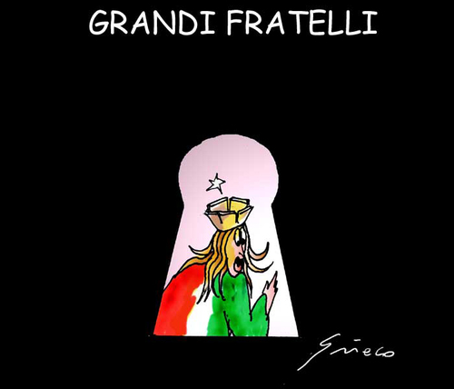 Cartoon: GRANDI FRATELLI (medium) by Grieco tagged italia,spie