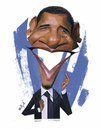 Cartoon: Barak Obama (small) by nader_rahmani tagged obama