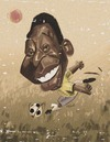 Cartoon: pele (small) by nader_rahmani tagged pele