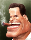 Cartoon: Arnold Schwarzenegger (small) by penava tagged arnold,schwarzenegger,karikatur,arnie,gouverneur,kalifornien,caricature,governor,california,politiker,politician