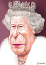 Cartoon: Queen Elizabeth II (small) by penava tagged karikatur koenigin england caricature english british royal queen elizabeth