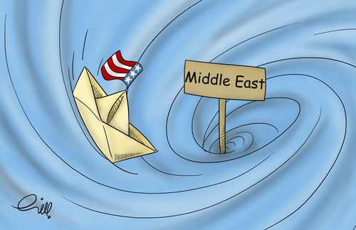 Cartoon: USA in middle east (medium) by shoorabad tagged usa,middleeast,politic