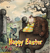 Cartoon: Happy Easter (small) by Nick Lyons tagged easter