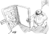 Cartoon: Bolocked Door to Elections (small) by mabdo tagged radical,islamist,dream,military,support,elections,arabic,spring