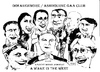 Cartoon: Actors in a play (small) by jjjerk tagged actors ireland irish cartoon caricature black white
