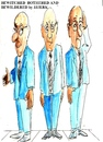 Cartoon: Bewitched bothered  bewildered (small) by jjjerk tagged bewitched,bothered,and,bewioldered,blue,three,men,tie,glasses,cartoon,caricature