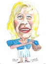 Cartoon: Edda von Sinnin (small) by jjjerk tagged edda von sinnion caricature cartoon germany blue white blonde