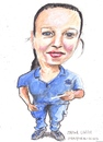 Cartoon: Marina (small) by jjjerk tagged marina,darndale,dublin,spanish,ireland,cartoon,caricature,blue,spain