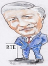 Cartoon: Pat kenny (small) by jjjerk tagged pat kenny rte cartoon caricature broadcaster famous people tie red blue irish ireland