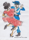 Cartoon: Spanish dance two (small) by jjjerk tagged spain cartoon caricature dancers dance red blue hat