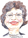 Cartoon: The lovely Ingrid (small) by jjjerk tagged ingrid lovely cartoon caricature irish ireland glasses academic rugby