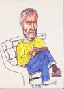 Cartoon: Tom (small) by jjjerk tagged yellow,tom,sketching,irish,ireland,blue