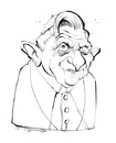 Cartoon: Benedikt XVI. (small) by Hoppmann tagged pope,benedikt