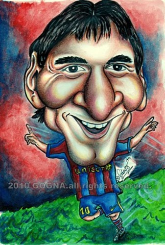 Cartoon: Lionel Messi (medium) by gogna caricaturas tagged messi
