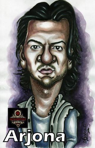 Cartoon: Ricardo Arjona (medium) by gogna caricaturas tagged arjona