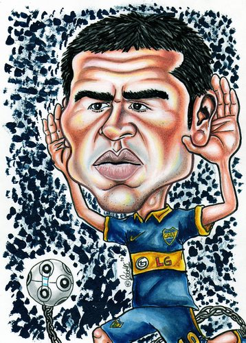 Cartoon: Roman Riquelme (medium) by gogna caricaturas tagged riquelme