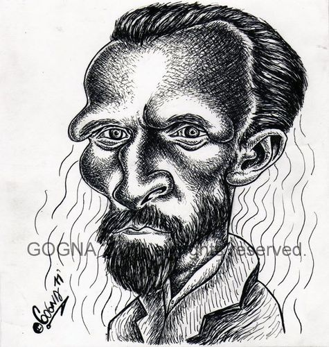 Cartoon: Vincent Van Gogh (medium) by gogna caricaturas tagged van,gogh