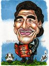 Cartoon: Diego Maradona (small) by gogna caricaturas tagged maradona