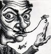 Cartoon: Salvador Dali (small) by gogna caricaturas tagged salvador,dali