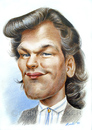 Cartoon: Patrick Swayze (small) by Michael Becker tagged patrick,swayze,schauspieler,illustration,karikatur