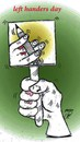 Cartoon: left handers day (small) by Hossein Kazem tagged left,handers