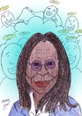 Cartoon: whoopi  in ghost (small) by Hossein Kazem tagged whoopi,in,ghost