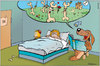 Cartoon: Dog Tales (small) by Gabor Toons tagged dog,bedtime,story,fairy,tale