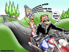 Cartoon: How to live to 100 years old.... (small) by DaD O Matic tagged motorcycles,seniors,bikers,chicks,geriatrics