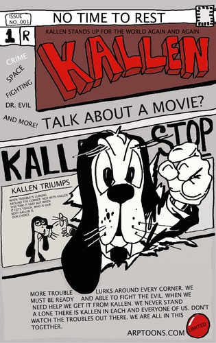 Cartoon: FRONT COVER OF KALLEN (medium) by tonyp tagged arp,kallen,arptoons,cartoon,magazine,comic,book