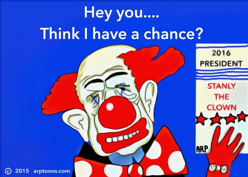 Cartoon: The next Presidential Candidate (medium) by tonyp tagged arp,clown,arptoons
