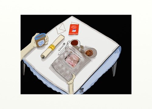 Cartoon: THE TABLE (medium) by tonyp tagged arp,atable,the,arptoons