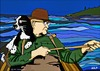 Cartoon: Man and his Dog Fishing (small) by tonyp tagged arp,dog,fishing,arptoons,boating,water
