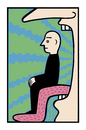 Cartoon: In the shade (small) by baggelboy tagged mouth