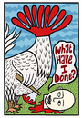 Cartoon: My own undoing (small) by baggelboy tagged chicken,axe