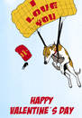 Cartoon: Fliegende Liebe (small) by dogtari tagged whippett,valentines,day,dogtari,daily,cartoon