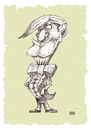 Cartoon: Noblesse oblige (small) by weiszb tagged money,elegance