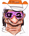 Cartoon: Bono (small) by juniorlopes tagged u2 bono caricature