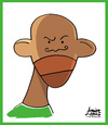 Cartoon: Etoo (small) by juniorlopes tagged word,cup,2010