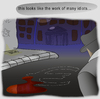 Cartoon: murder scene (small) by LeeFelo tagged euro,depression,conspiracy,idiots,blood,outline