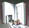 Cartoon: The Doors (small) by Marcelo Rampazzo tagged books education kids