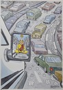 Cartoon: Traffic (small) by Marcelo Rampazzo tagged traffic cars