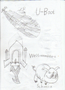 Cartoon: u-boot und schwein (small) by neudecker tagged zeichnung cartoon scribble
