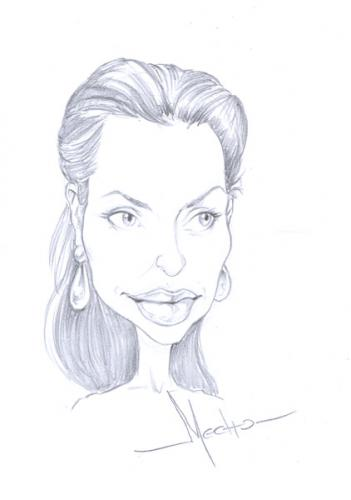 Cartoon: Jolie (medium) by Mecho tagged jolie,angelina,caricature,caricatura