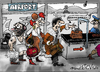 Cartoon: airport.... (small) by ivo tagged wow